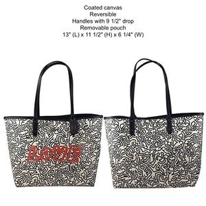 Coach X Keith Haring Reversible City Tote Love